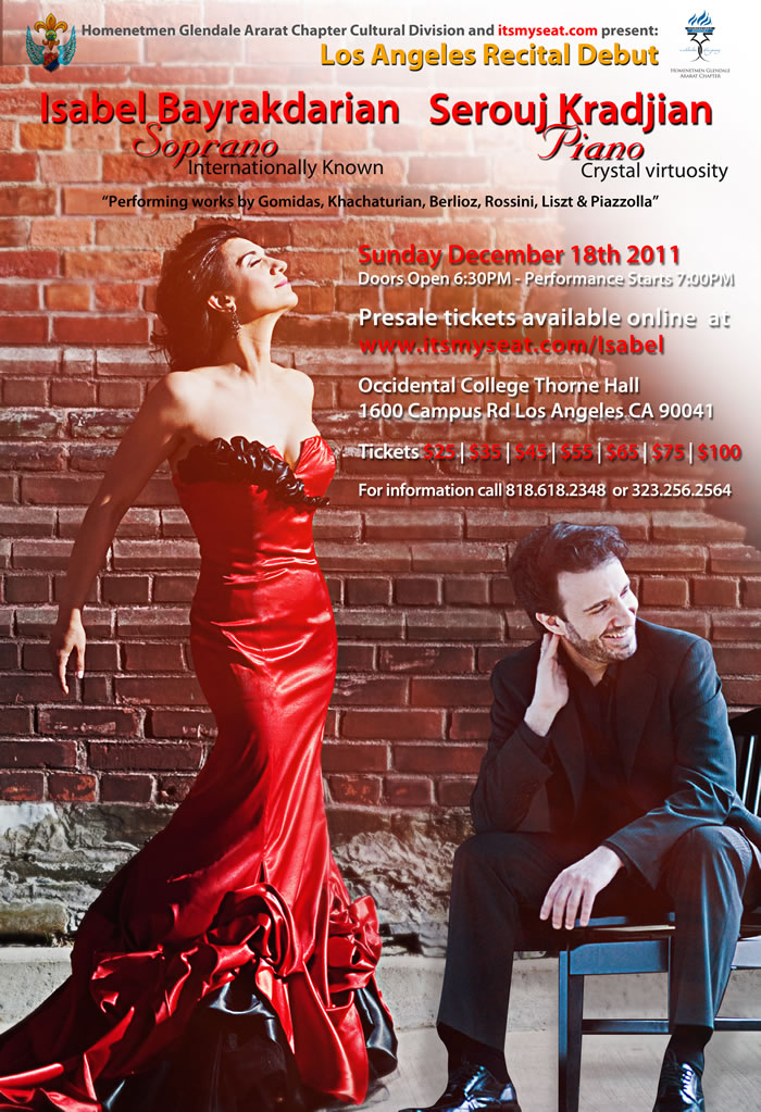 Isabel and serouj Decemnber 18th Recital at Thorne Hall