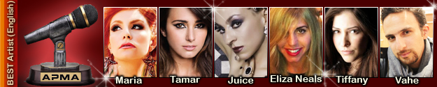 1st Armenian Pulse Music Awards Best Artist in English Nominees