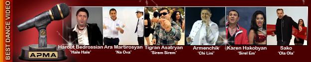 1st Armenian Pulse Music Awards Best Dance Video Nominees