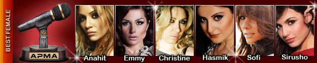 1st Armenian Pulse Music Awards Best Female Nominees