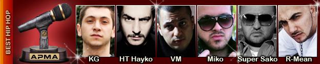 1st Armenian Pulse Music Awards Best Hip Hop Artist Nominees