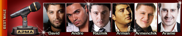 Armenian Pulse Music Awards Best Male Nominations