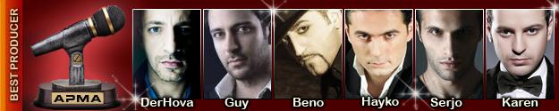 1st Armenian Pulse Music Awards Best Producer Nominees