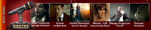 1st Armenian Pulse Music Awards Best Song Nominees
