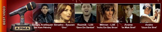 1st Armenian Pulse Music Awards Best Video Nominations