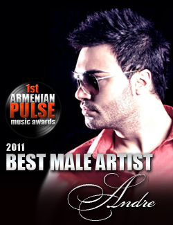 Andre Winner Best Male Artist Armenian Pulse Music Awards