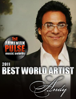 Andy Winner Best World Artist Armenian Pulse Music Awards