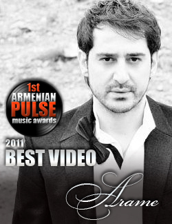 Arame Winner Best Video Armenian Pulse Music Awards