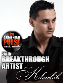 Khachik Karadanyan Winner Breakthrough Artist Armenian Pulse Music Awards