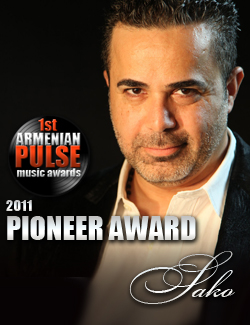 Sako Winner Pioneer Award Armenian Pulse Music Awards