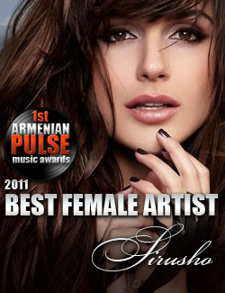 Sirusho Winner Best Female Artist Armenian Pulse Music Awards
