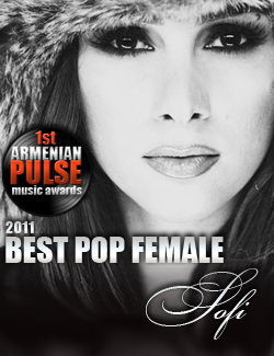 Sofi Mkheyan Winner Best Female Pop Artist Armenian Pulse Music Awards