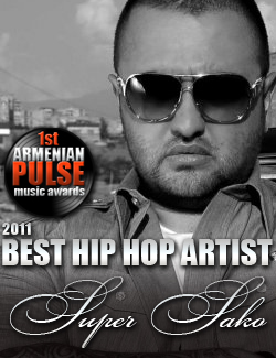 Super Sako Winner Best Hip Hop Artist Armenian Pulse Music Awards