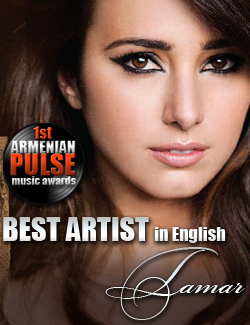 Tamar Kaprelian Winner Best Artist in English Armenian Pulse Music Awards