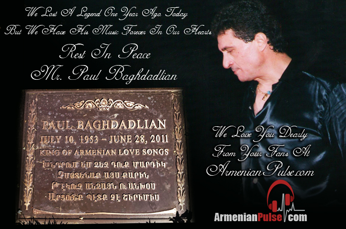 Paul Baghdadlian Gravestone Remembrance
