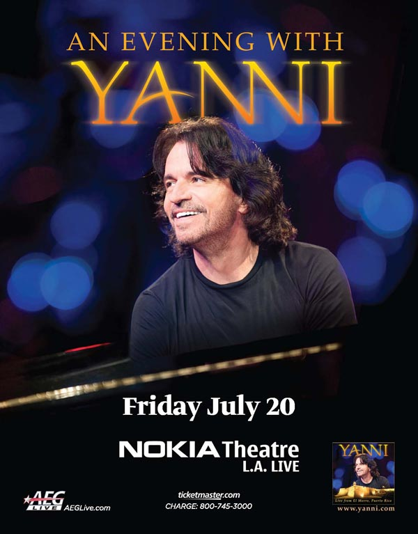 An Evening with Yanni Nokia Theater Los Angeles