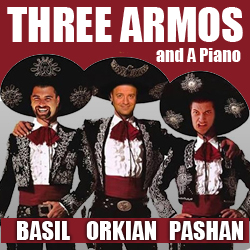 three armos and a piano comedy show