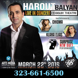 Harout Balyan Live In Concert at Dolby Theater March 22